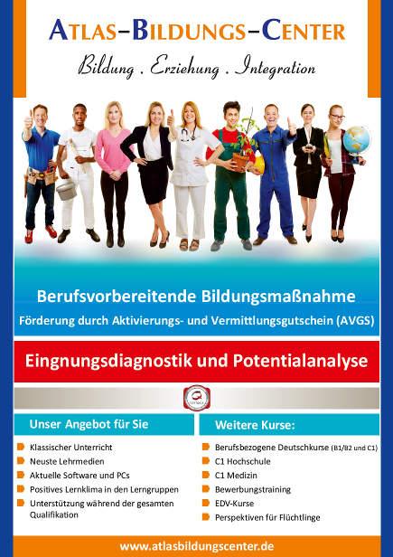 Flyer mit Informationen zur Eignungsdiagnostik und Potentialanalyse
