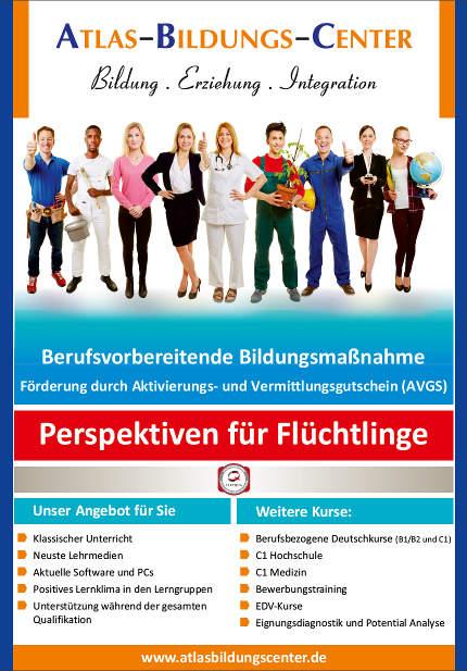Flyer zu den Perspektiven für Flüchtlinge